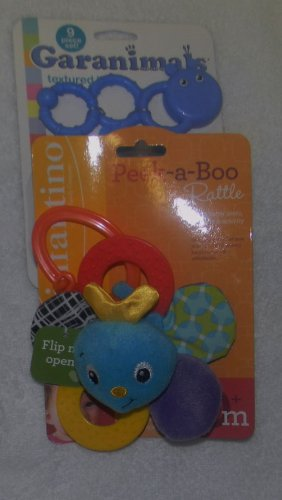 PEEK-A-BOO FLIP ME OPEN MIRROR RATTLE BY INFANTINO
