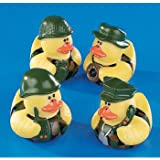 One Dozen (12) Camoflage Rubber Duck Party Favors