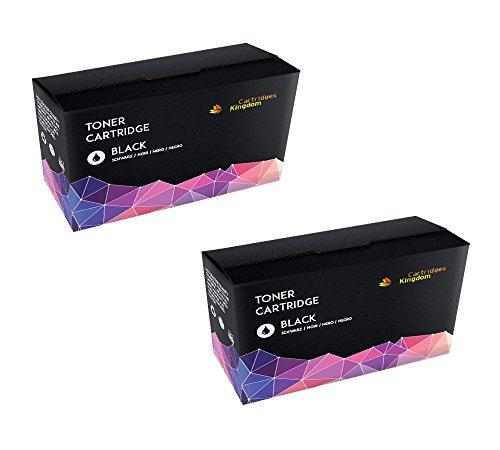 2 x Schwarz Toner Ersatz für CB435A kompatibel mit HP LaserJet P1005, P1006, P1007, P1008, P1009, Canon i-SENSYS LBP-3010, 3100, LaserShot LBP-3018, 3108, 3050, 3150, 3010, 3100 (2BK)