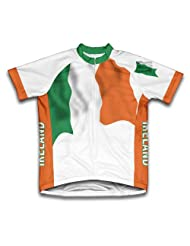 Ireland Flag Short Sleeve Cycling Jersey for Women