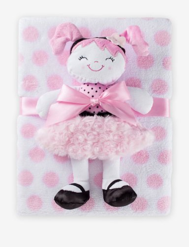 Baby Girl Blanket and Doll Set - 1