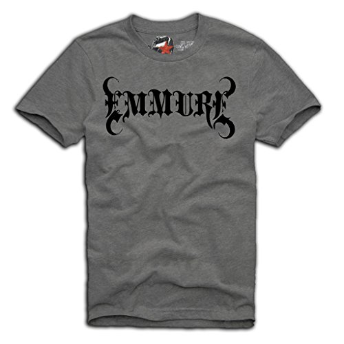 "E1SYNDICATE ""EMMURE"" T-SHIRT HARD CORE DEATH CORE CHELSEA GRIN ATTILA S/M/L/XL GREY"