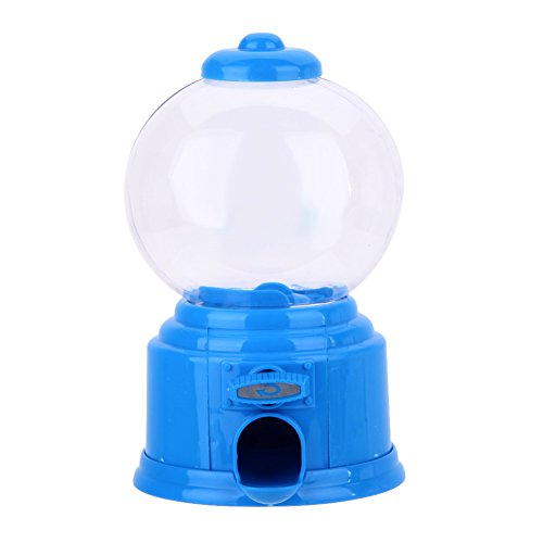 Whitelotous Mini Candy Machine Bubble Gumball Dispenser Coin Bank Kids Toy (Blue) (Candy Toy Dispenser compare prices)