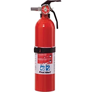 First Alert FE1A10GO Multi-Purpose Household Extinguisher Red