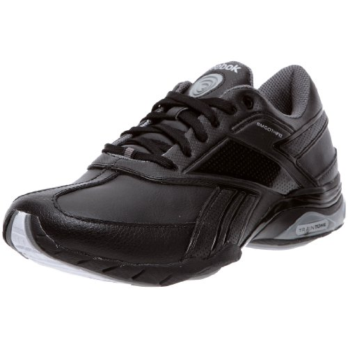 Reebok Traintone Anthlin 150299, Damen Sportschuhe - Fitness, Schwarz (syn/black/p.silver/m.grey/wht 1), EU 42 (UK 8)