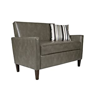 Angelo Home Sutton Loveseat Leather Good Sofas