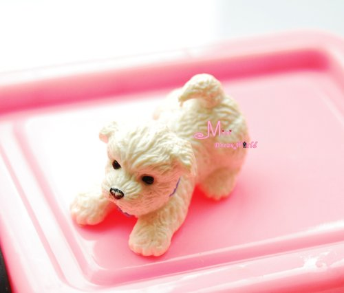 Free Shipping!PET White Puppy Dog Cute 1/12 Dollhouse Miniature Animal PD67 (Miniature Dog House compare prices)