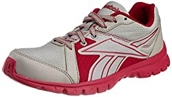 Reebok Womens Run Sports Lp Steel and Pink Mesh Running Shoes - 4 UK