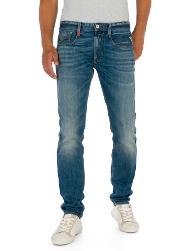 Replay - Anbass, Jeans skinny da uomo, Blau (Blue Denim 9), 44 IT (30W/30L)