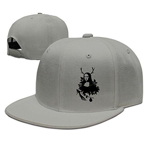 texhood-funny-mona-lisa-cool-trucker-hat-one-size-ash