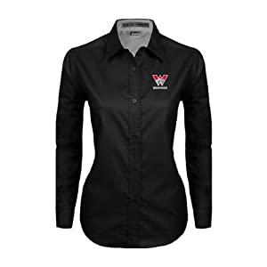 Western Ladies Black Twill Button Down Long Sleeve