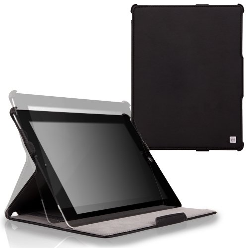 CaseCrown Ace Flip Case (Black) for the new iPad / iPad 2 (Built-in magnet for sleep / wake feature)