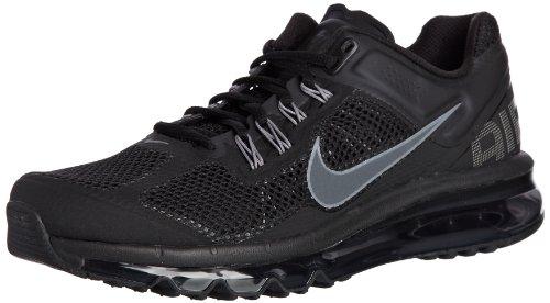 Nike Nike Men's NIKE AIR MAX+ 2013 RUNNING SHOES 9 Men US (BLACK/DARK GREY)