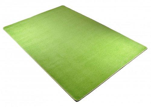 Designer Teppich Nasty Floor | Kurzflor Grün, Größe:200×300