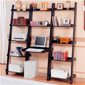 Buy Low Price Comfortable Casual Open Backless Bookcase with Computer Desk, 77″H (B00405D9M2)