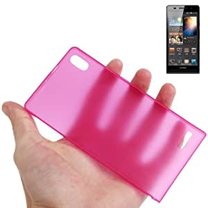 0.3mm Ultra Thin Polycarbonate Materials PC Protection Shell for Huawei Ascend P6 (Magenta)