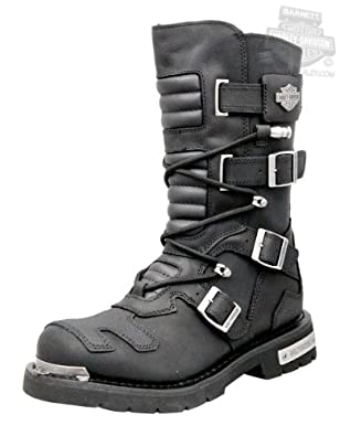 Harley-Davidson Mens Axel Black Leather High Cut Boot by Harley-Davidson (Mens)