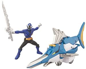 Power Rangers Power Rangers Zord Vehicle with Figure, SwordfishZord and Blue Ranger