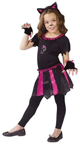 Girls Cat Sweetheart Kids Child Fancy Dress Party Halloween Costume