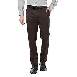 Zido Men'S Slim Fit Brown Formal Trouser_ZI15052_Brown