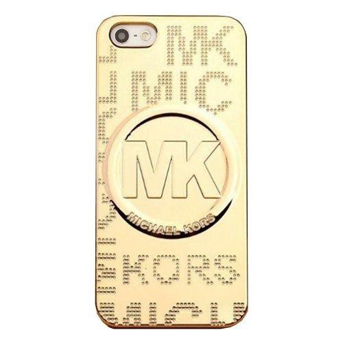 New in Box Michael Kors Metallic Embossed Gold