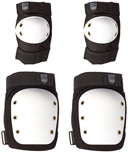 Shaun White Supply Co. Street/Park Knee/Elbow Protective Pads - Black - Small/Medium