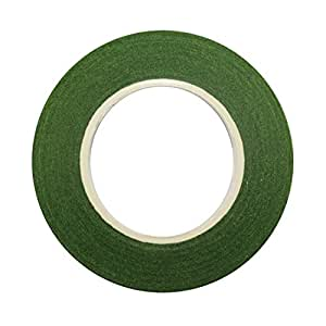"Decora 1/2"" Wide Dark Green Floral Tape"