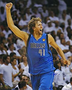 DIRK NOWITZKI SIGNED AUTOGRAPHED DALLAS MAVERICKS 11X14 PHOTO JSA #K35319