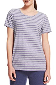 M&S Collection Active Striped Top [T51-3010-S]