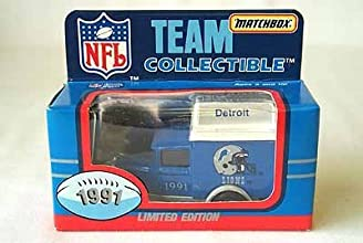 Detroit Lions 1991 Matchbox NFL Diecast Ford Model A Truck Collectible Car by White Rose Collectible