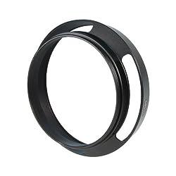 CamDesign 62mm Pro Angle Vented Metal Lens Hood Sun Shade for Leica/Contax Zeiss/Voigtlander/Panasonic Lumix/Fujifilm/Olympus/ Nikon /Canon/Sony/Pentax/ Samsung/Sigma/ RF Rangefinder Cameras with 72mm lens cap+ CamDesign Wristband Lens Focus Ring