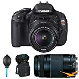 Canon EOS Rebel T3i 18 MP CMOS APS-C Sensor DIGIC 4 Image Processor Digital SLR Camera with EF-S 18-55mm f/3.5-5.6 IS Lens + Canon EF 75-300mm f/4-5.6 III Telephoto Zoom Lens