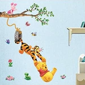 Home Decor Mural Art Wall Paper Stickers---poohgame Dwds-001 by Victoria's deco
