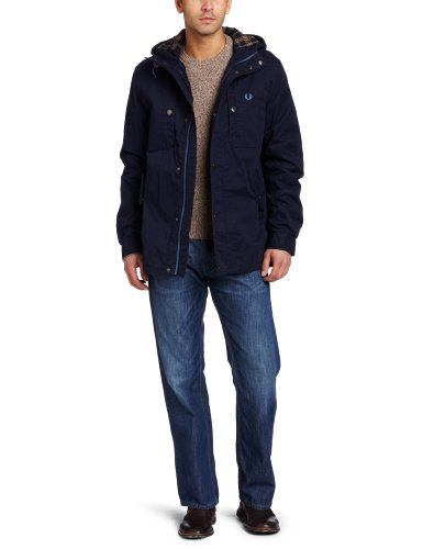 Fred Perry Men's Winter Pursuit Jacket, Blue Granite, X-Small