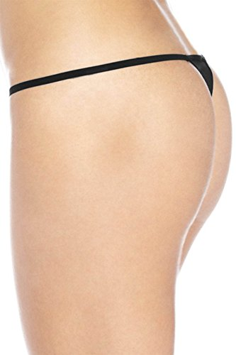 Sexy-Funny-Womens-Black-Thong-G-string-WHITE-ALL-YOU-CAN-EAT