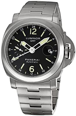 Panerai Men's PAM00297 Luminor GMT Black Dial Watch