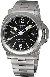Panerai Men's PAM00297 Luminor GMT Black Dial Watch