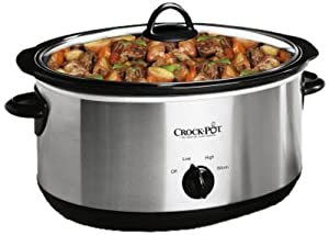 Crock-Pot 64451LD-C 6-1/2-Quart Slow Cooker with Bonus Little Dipper Slow Cooker, Stainless Steel