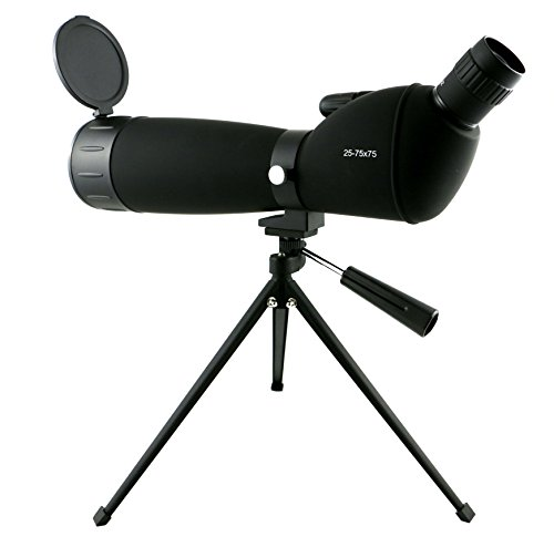 Lowest Prices! 25-75x75 mm Colorado Spotting Scope with Case Tripod Lens Cover by Golden Eye Tactica...