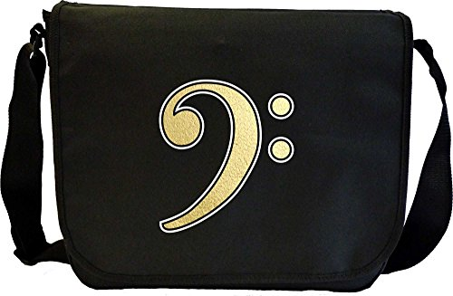 Music Notation Bass Clef - Sheet Music Document Bag Borsa Spartiti MusicaliTee
