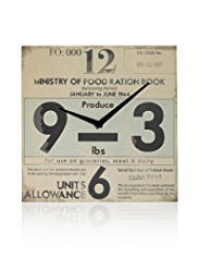 Ration Ticket Wall Clock