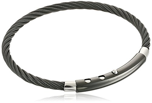 mens-black-tone-stainless-steel-adjustable-cable-bracelet