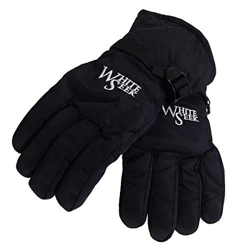 WhiteSeek 【防水 防寒 スノーグローブ 手袋】 速乾 自転車 バイクグローブ スキー スノーボード (メンズフリー)