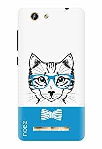 Noise Designer Printed Case / Cover for Gionee F103 Pro / Animated Cartoons / Blue Cat Design