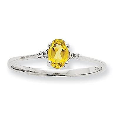 10k White Gold Genuine Rough Diamond Peridot Ring - Size L 1/2 - Higher Gold Grade Than 9ct Gold