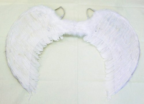 Angel Wings angelic wings white Angel natural feather cosplay literary and play to your favorite size (extra large: (applicable height / 150 cm)).