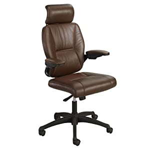 Safco Products Incite High Back Executive Chair, Brown, 4470BR
