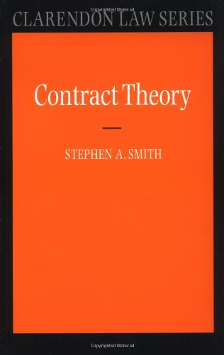 Contract Theory (Clarendon Law Series)