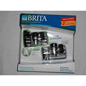 Brita 42763 Disposable Faucet Filtration Systems Combo Pack