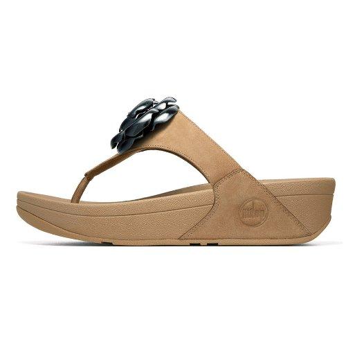 Fitflop Women'S Florent Thong Sandal,Tan,9 M Us front-415545